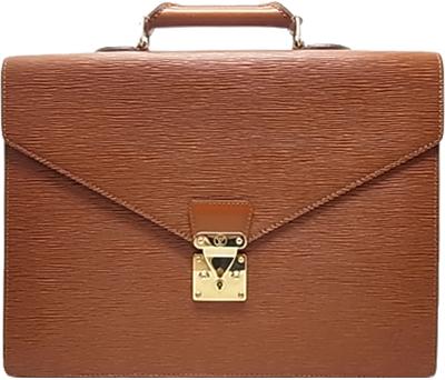 ルイ・ヴィトン エピ ビジネスバッグ セルヴィエット アンバサダー ジパングゴールド Louis Vuitton 書類バック ブリーフケース M54418 ヴィトン 小物 財布 バック【中古】