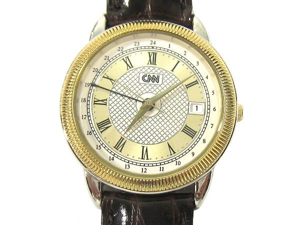 CNN TNE WORLD's NEWS LEADER men's watch quartz clock and watch