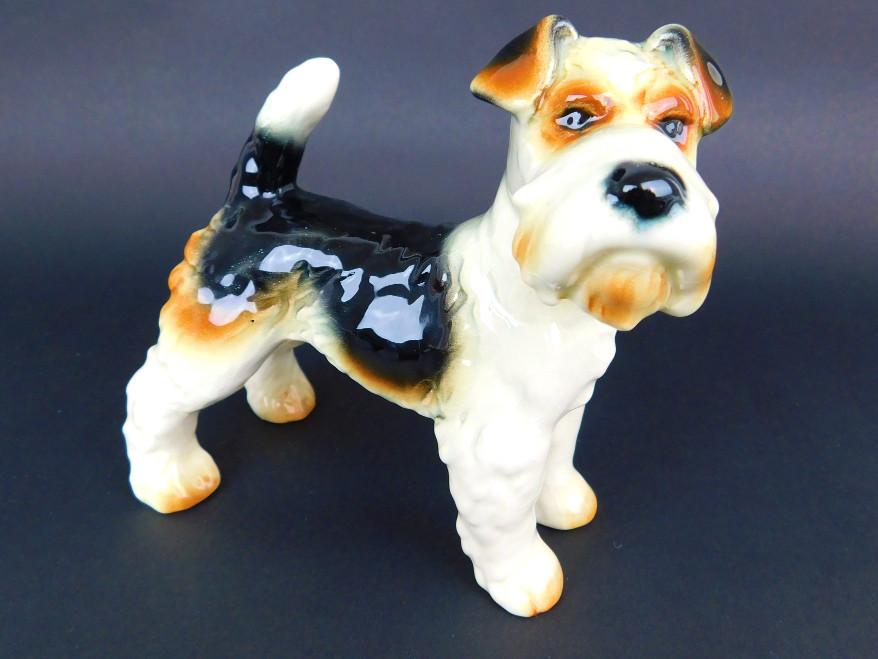 【中古】Goebel ゲーベル 犬 テリア フォックステリア DOG 置き物【送料無料】【店頭受取対応商品】
