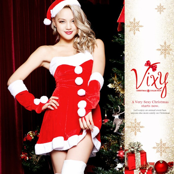 Simple A line Santa 2 Christmas Santa cosplay girls cute vixy costume fancy dress event adult costume  sc 1 st  Rakuten & miscellaneous goods and peripheral equipment ERRAND SHOP | Rakuten ...