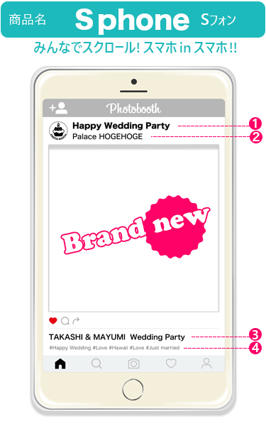 Choose SNS photo booth A1 size party wedding entertainment parties event photos festivals Garland piling up Secretary toy instagram eating shop beauty giveaway photo props face out Panel