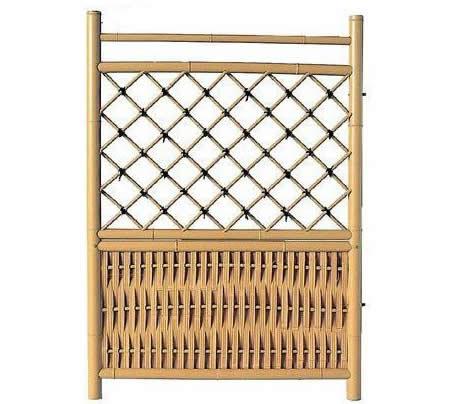枝折戸人工竹 W(幅)700mm×H(高さ)1050mm 送料無料 二段枝折戸