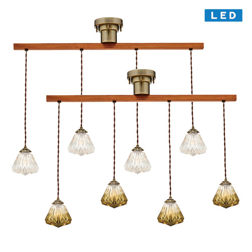 LORREZ DANGLE4 PENDANT LIGHT LED (ロレエ ダングル 4 シーリング ライト LED電球タイプ) LT-1722 【送料無料】  【IF】