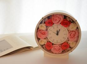 花時計 クラシカルラウンド ピンク【送料無料】【花恭】