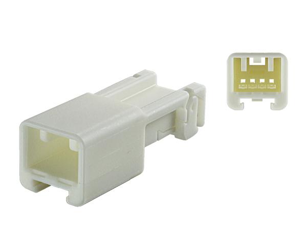 住友電装製025型HEシリーズ4極Mコネクタのみ 端子無し 返品交換不可 低廉 4P025-HE-M-tr