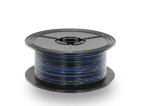 住友電装 AVS1.25f 100mスプール巻き 黒色・青ストライプ/AVS125f-100-BKBL