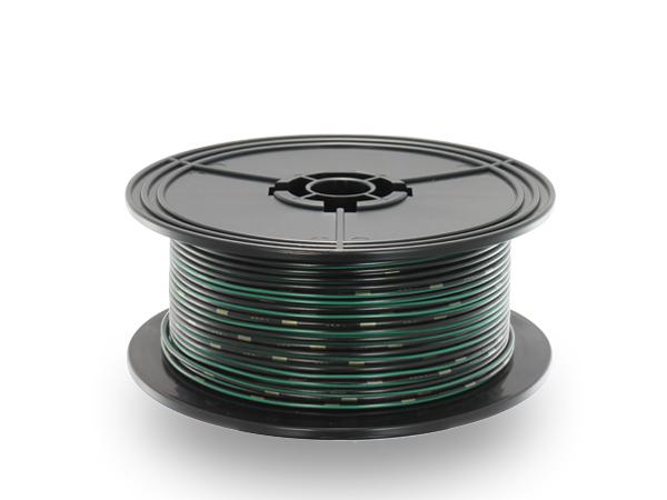 住友電装 AVS1.25f スプール100m巻き 黒色・緑ストライプ/AVS125f-100-BKGRE