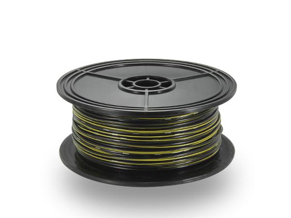 住友電装 AVS1.25f スプール100m巻き黒色・黄ストライプ/AVS125f-100-BKYE
