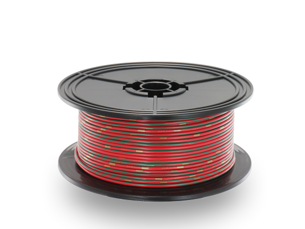 住友電装 AVS1.25f スプール100m巻き 赤色・緑ストライプ/AVS125f-100-RDGRE