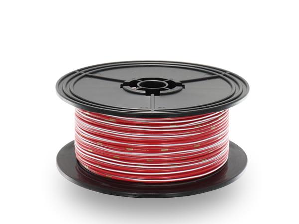 住友電装 AVS1.25f スプール100m巻き 赤色・白ストライプ/AVS125f-100-RDWH