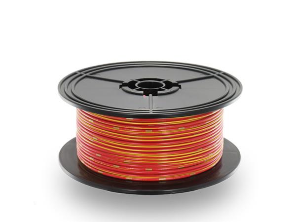 住友電装 AVS1.25f スプール100m巻き 赤色・黄ストライプ/AVS125f-100-RDYE