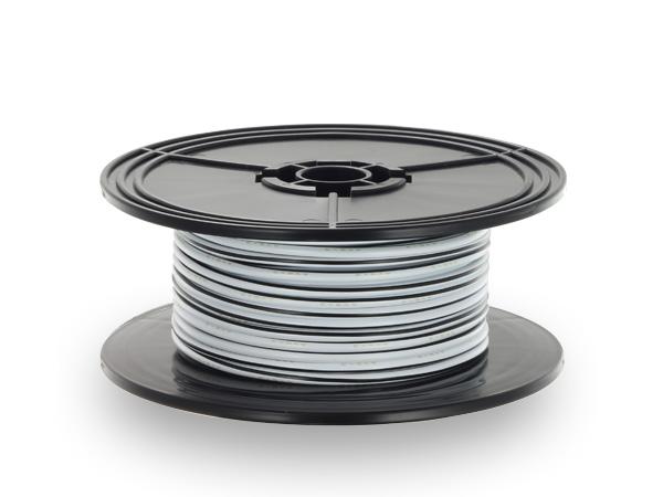 住友電装 AVS3.0 30mスプール巻き 白色・黒ストライプ/AVS30-30-WHBK