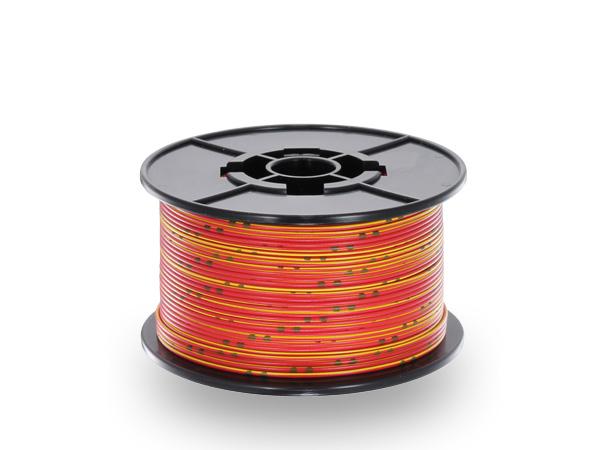 住友電装 AVSSB0.3f スプール100m巻き 赤色・白ストライプ/AVSSB03f-100-RDYE