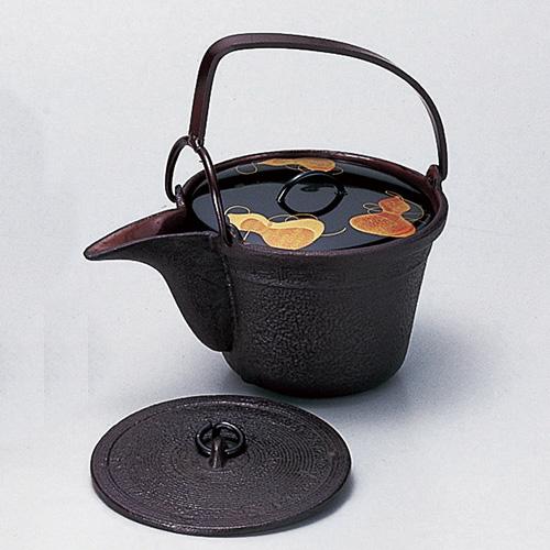 【茶道具 新春・干支】銚子 (瓢蒔絵)替蓋付  文映作