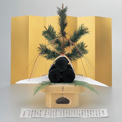 茶道具 新春・干支 吉兆菊炭飾角三宝台セット 中 [限定3個] (H50cm)
