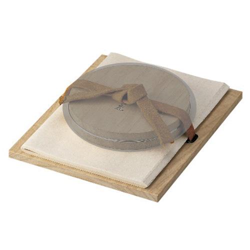 茶道具 新春・干支 板文庫 桐(皮紐付)(縦 29.5×横 24.2×厚さ 1.3cm) 雄斎作
