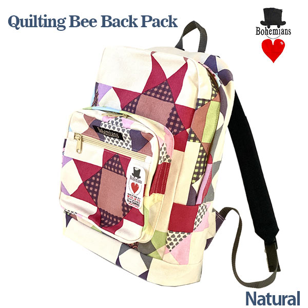 QUILTING BEE BACK PACK NATURAL ナチュラル リュックサック BOHEMIANS ボヘミアンズ 日本製