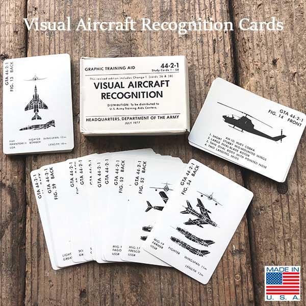 推奨 Visual Aircraft Recognition 祝日 Cards ヴィジュアルエアークラフトリコグニションカード ミリタリー 戦闘機 アメリカ DETAIL