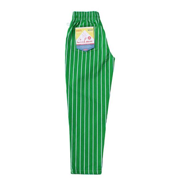 Chef pants stripe LIGHT GREEN シェフパンツ ストライプ ライトグリーン UNISEX 男女兼用Cookman クックマン イージーパンツ アメリカLSc5RqA34j
