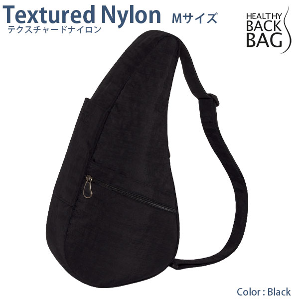 HEALTHY BACK BAG Textured Nylon M Black ヘルシーバックバッグ テクスチャードナイロン Mサイズ ブラック