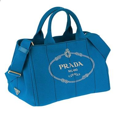プラダ PRADA 1BG642 CANAPA/AZZURRO 手提げバッグ