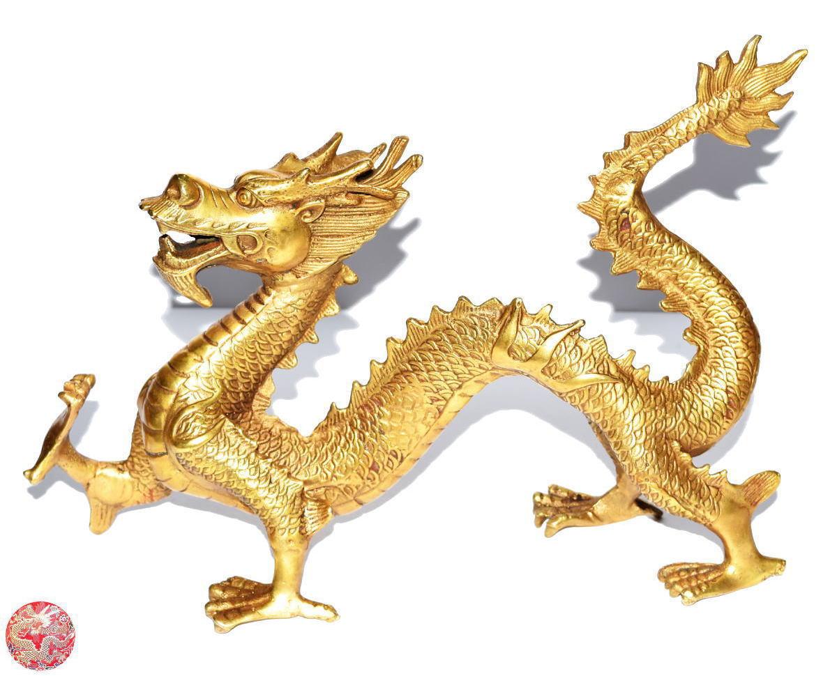 龍 Loong Dragon銅製 開運 風水 五爪金龍新品 激安価額開運風水龍置物 送料無料十二支 四神獣 新品東の守り神 威龍彩雲通販
