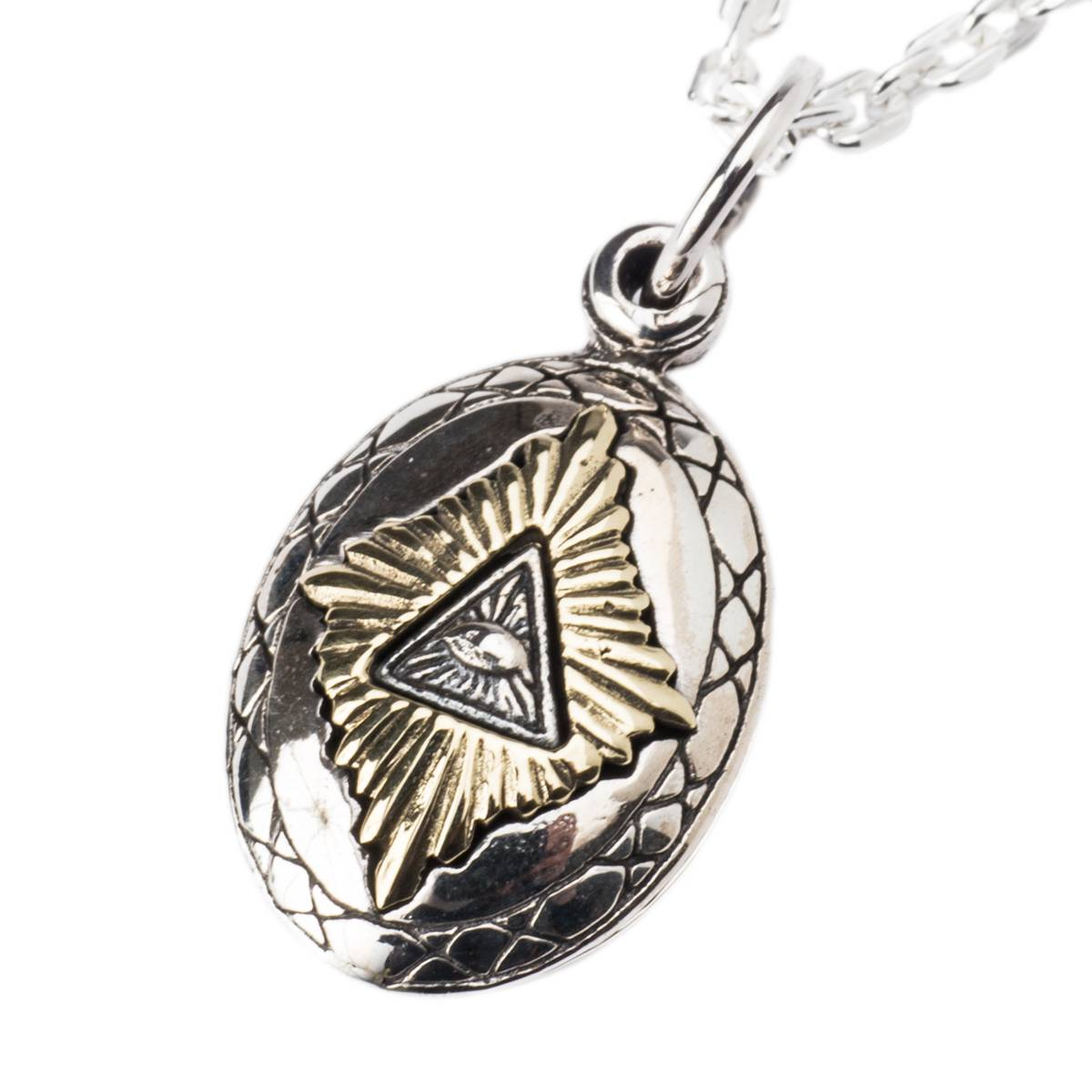 Eyes pendant top necklace slide type good vibration [731svn] of eyes ラー of  the eyes Horus of goodvibrations silver 925 Freemason Providence