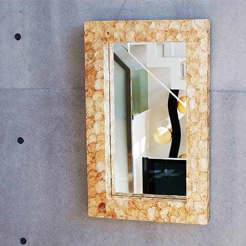 Resort Beautiful Shell Frame Mirror 80 Cm Gold
