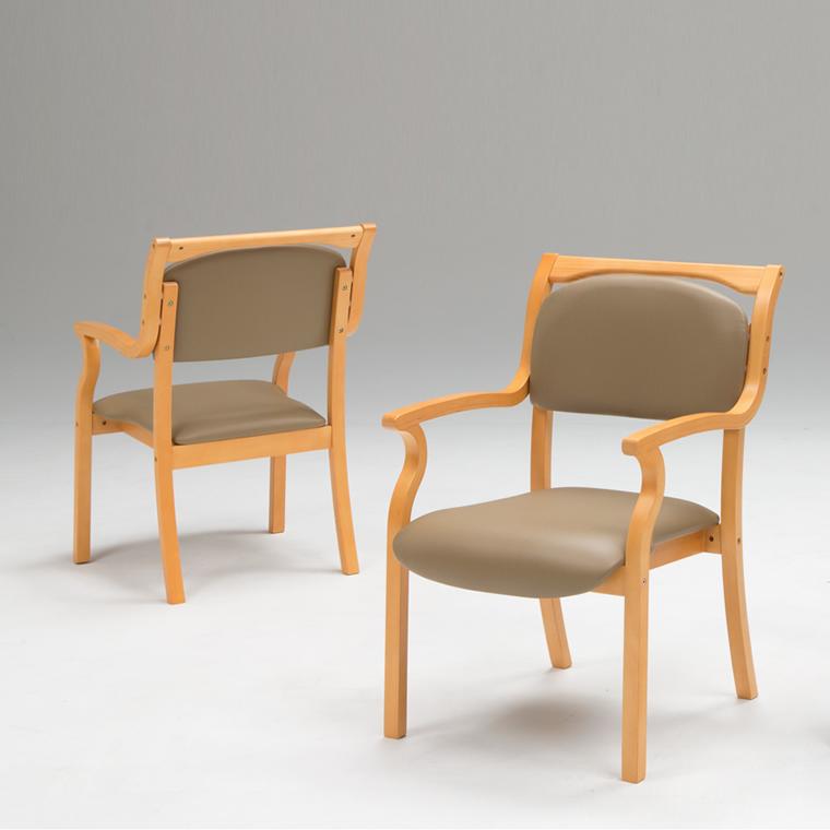 ダイニングチェア 肘付き 2脚セット 2色 椅子 介護椅子 スタッキングチェア 肘掛 ビニールレザー PVC ダイニングチェアー チェア リビングチェア 業務用 肘掛け付チェア いす ダイニング スタッキング 介護施設