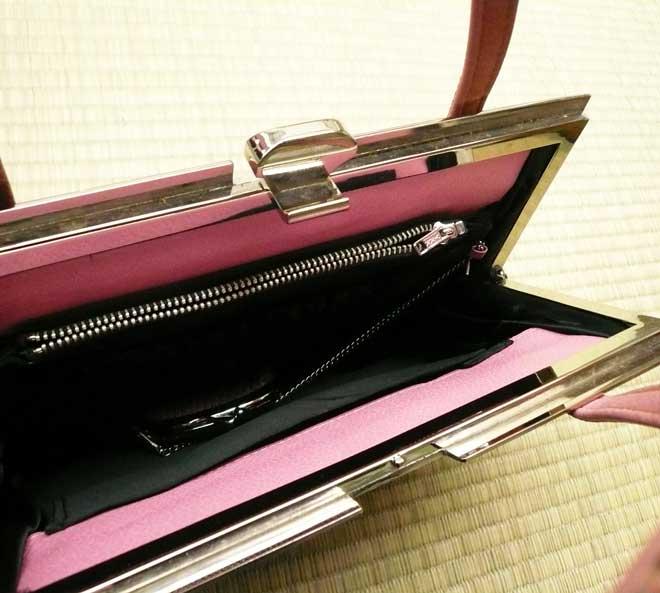 和装バッグ着物カジュアルピンク色型押し激安
