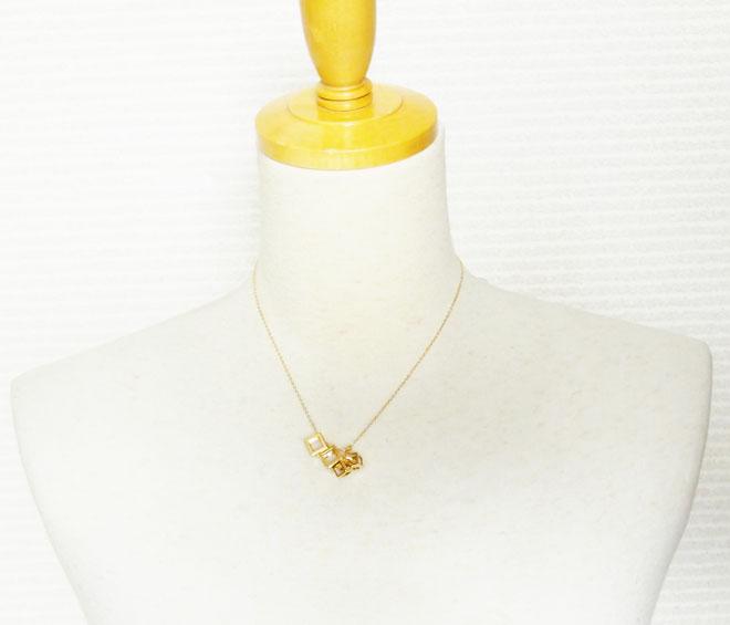 ダイヤネックレスハートk18プチネックレスダイヤモンドペンダントトップ中古18金ピンクゴールドPCT