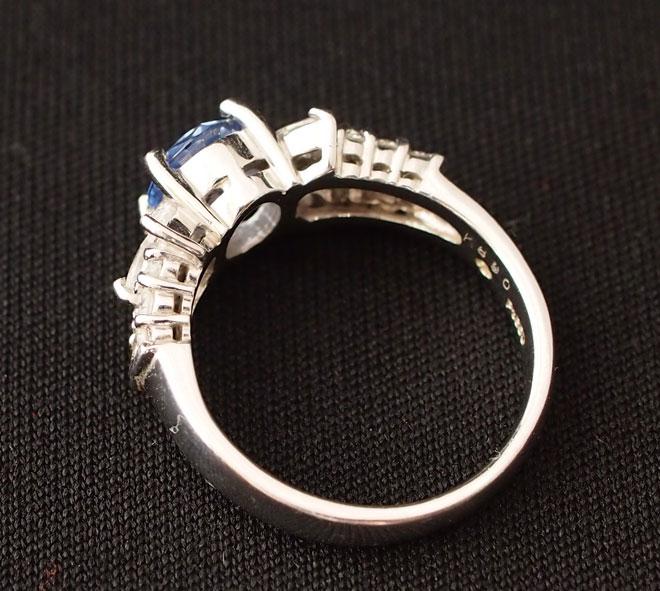 サファイアダイヤモンドリング中古レディースPT90012号S0.43ct/D0.14ct4.49gプラチナ指輪青ブルーダイアサファイヤ送料無料激安質屋