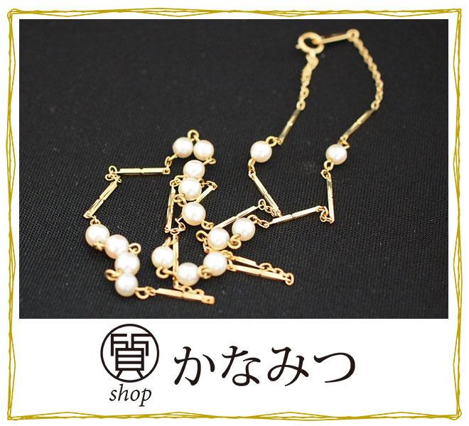 ベビーパール ミニパール 真珠 ネックレス 18金 K18 中古