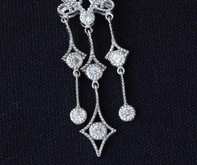 VANDOMEヴァンドーム青山ネックレスk18ダイヤプチネックレスダイヤモンドペンダントトップ中古18金