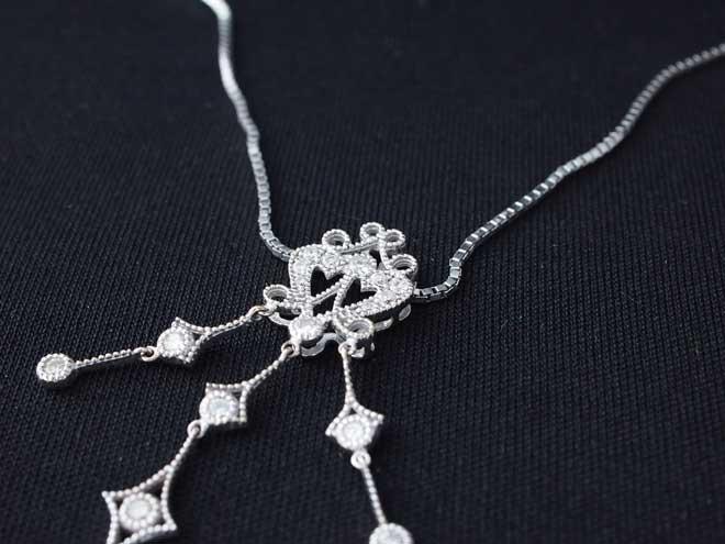 ネックレスk18ダイヤダイヤモンドハートダイヤモンドペンダントトップ中古1.03ct18金プラチナ