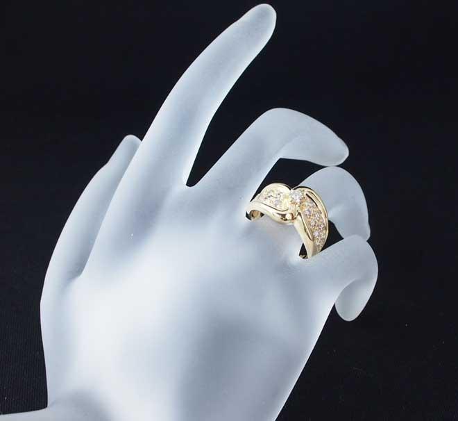 パヴェダイヤモンドリング中古花レディースPT900号D1.20ct4.5gプラチナ指輪ダイア送料無料激安質屋