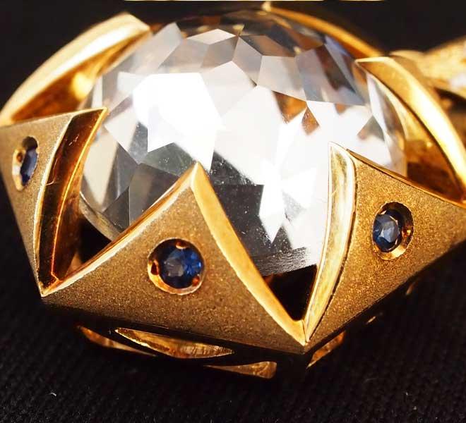 プチネックレスペンダントトップk18WG中古ハート750WGダイヤダイヤモンド18金