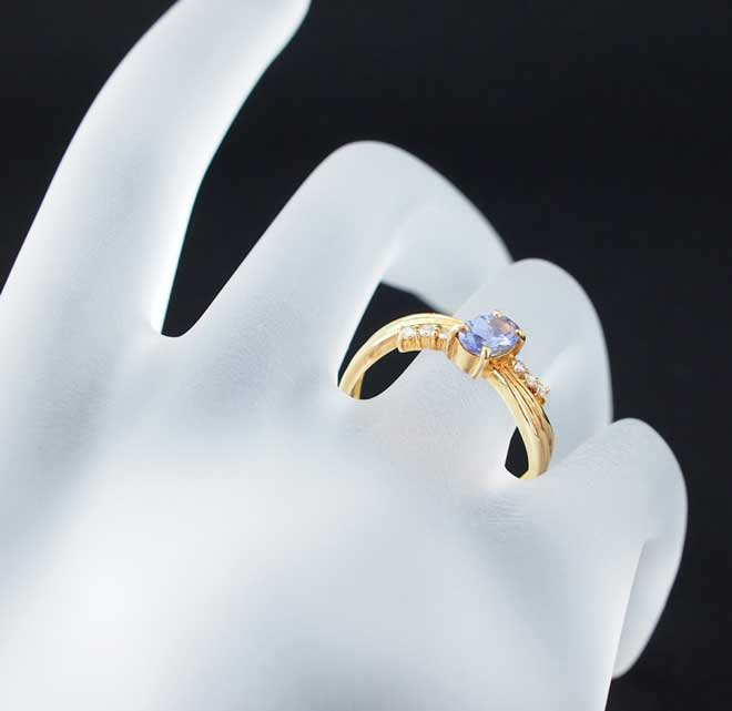 サファイアダイヤモンドリング中古レディースPT90011号S2.00ct/D0.10ct5.27gプラチナ指輪青ブルーダイアサファイヤ送料無料激安質屋