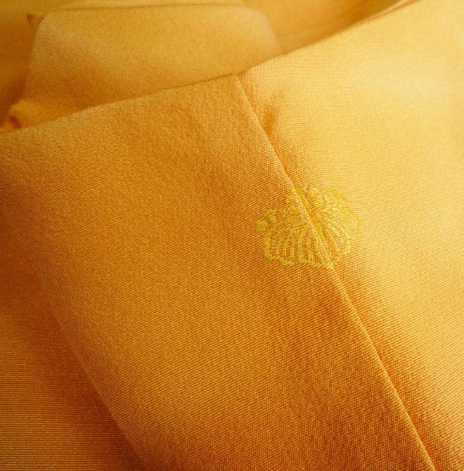 作家物着物色無地正絹未使用サーモンピンクグラデーションリサイクル着物中古着物激安