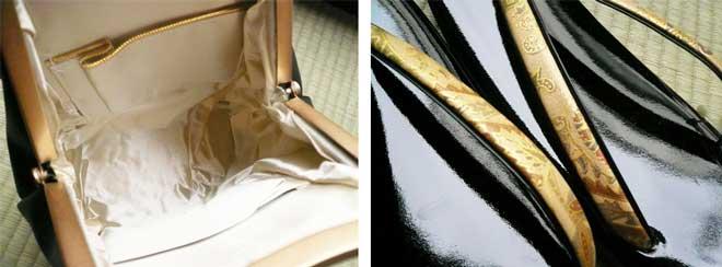 草履バッグセット本皮牛革留袖フォーマル金黒色未使用