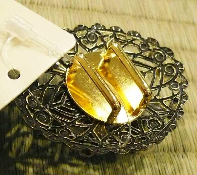 帯留め葉和装小物銀色シルバージルコニアダイヤモンド色