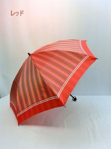 【S】 雨傘・折畳傘-婦人 甲州産先染め朱子格子コンパクト日本製折り畳み傘 おすすめ 【送料無料】