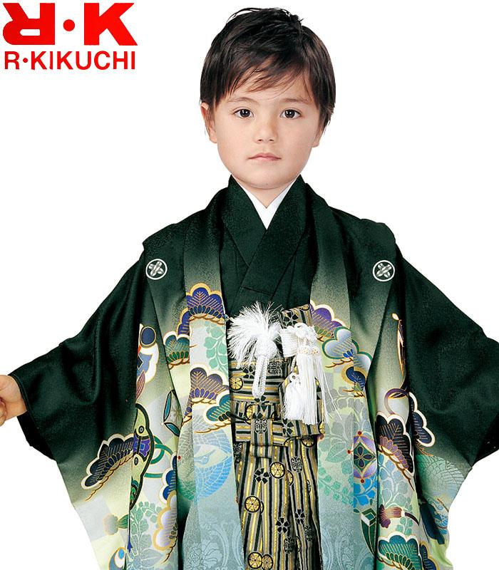 2020年新作 七五三 着付けに必要な物は全て揃った着付け完璧フルセット 着物 ブランド 1 セット 男の子 5歳羽織袴 購入 販売 リョウコキクチ フルセット 袴 RK