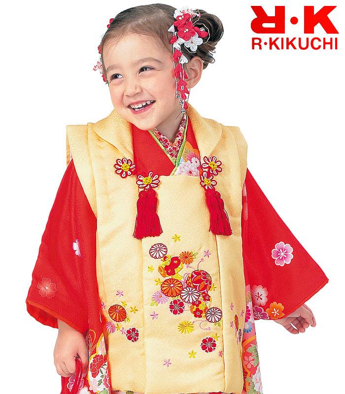 2020年新作 販売 購入 5 着物 七五三 3歳 ブランド 被布セット 女の子 RK リョウコキクチ
