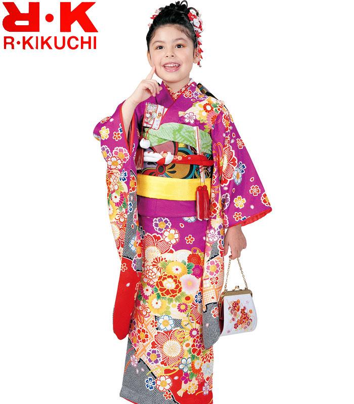 購入 7歳 RK 単品 リョウコキクチ 七五三着物 販売 2020年新作 1 四つ身着物 ブランド 女の子