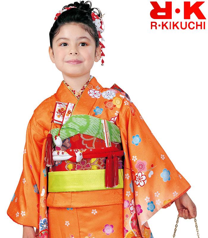 販売 着物 7歳 2020年新作 女の子 購入 4 RK リョウコキクチ ブランド 着物フルセット 七五三 四つ身セット