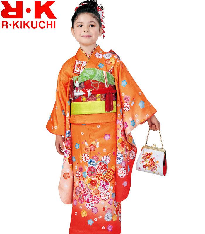 ブランド リョウコキクチ 単品 7歳 購入 七五三着物 RK 4 2020年新作 四つ身着物 女の子 販売