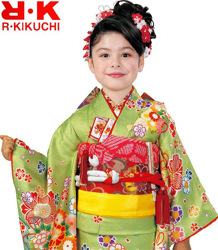 女の子 販売 ブランド 2020年新作 購入 7歳 七五三 RK 着物フルセット リョウコキクチ 四つ身セット 着物 6