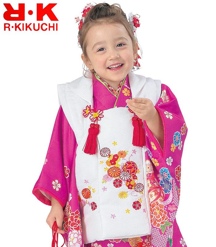 RK 販売 七五三 女の子 3歳 ブランド 被布セット リョウコキクチ 2020年新作 購入 着物 8