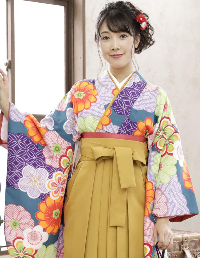 卒業式 袴 袴セット 女 二尺袖着物 ミサヤマ ブランド 袴7点セット 33 大学生 短大生 小学生販売 購入